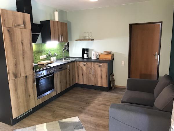 Ferienwohnung mit Küche und Geräten